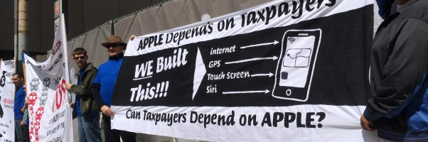 Apple SF tax day protest